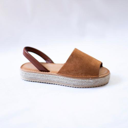Sandales effet daim Claire