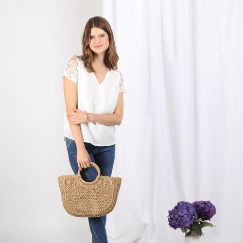 3S. x Stylist - Top manches courtes Irene - Blouse, chemise