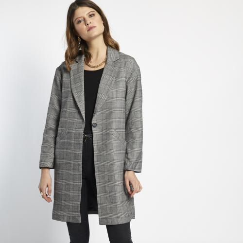 3S. x Stylist - Manteau mi-long à carreaux - La mode