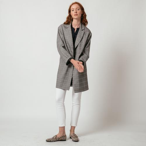 3S. x L'Edition - Manteau mi-long à carreaux - Manteau