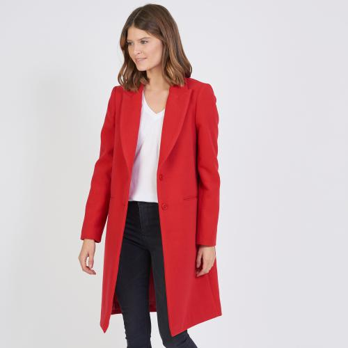 3S. x Stylist - Manteau mi-long col tailleur - Color Block