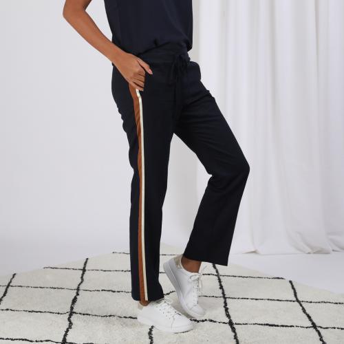 Pantalon en lin avec bandes appliquées 3S. x Stylist