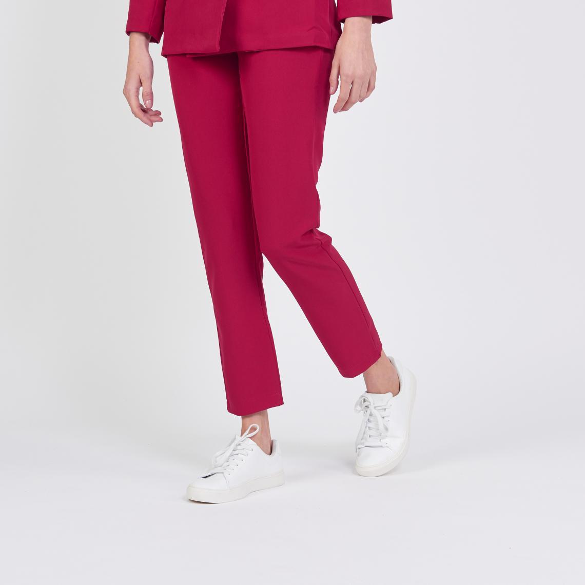 Pantalon tailleur droit rouge Billy | 3 SUISSES