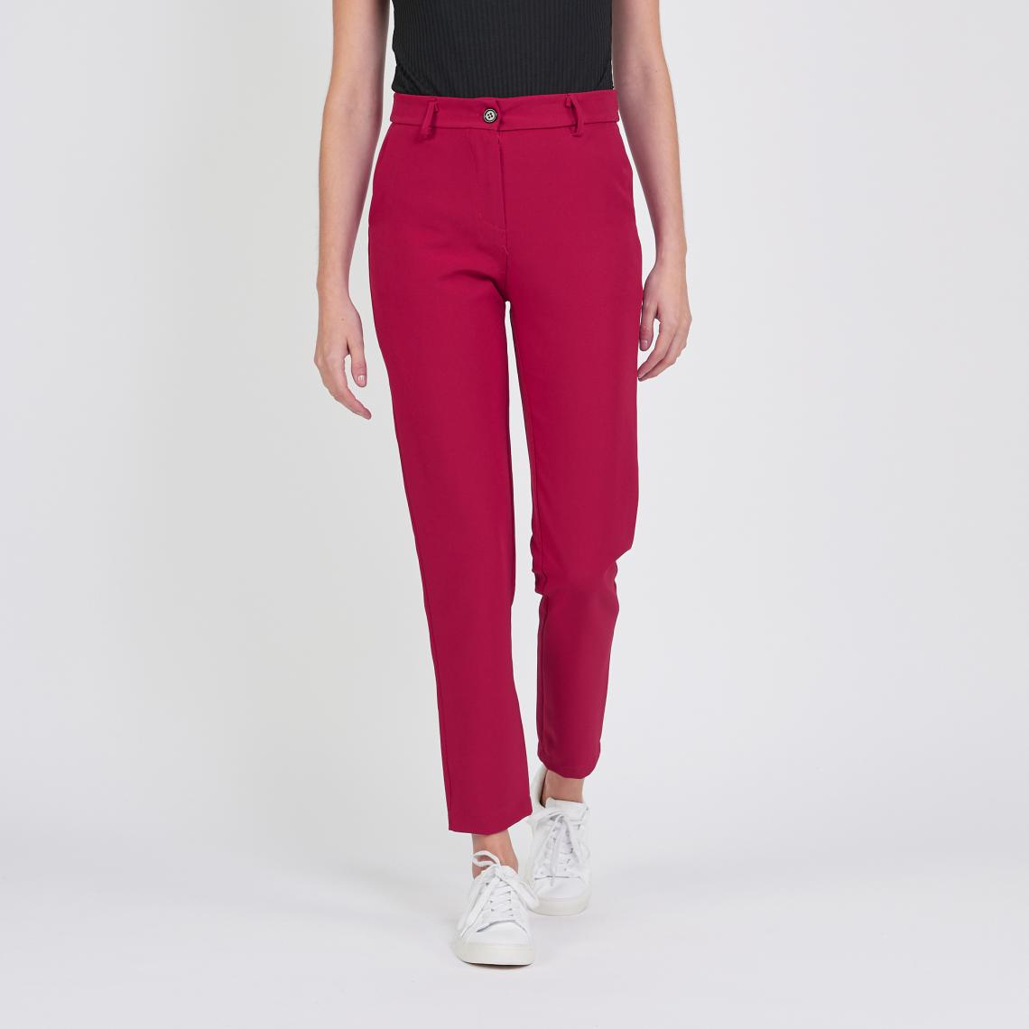Pantalon tailleur droit rouge Billy | 3 SUISSES