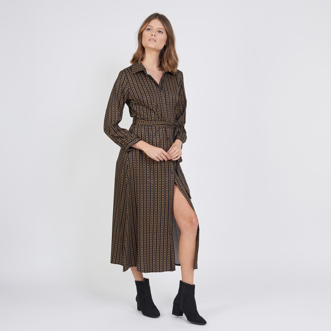 Robe chemise longue imprimée graphique Jimmy - 3 suisses - Modalova