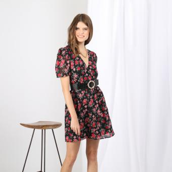 3S. x Stylist - Robe courte fleurie Iseult - Robe