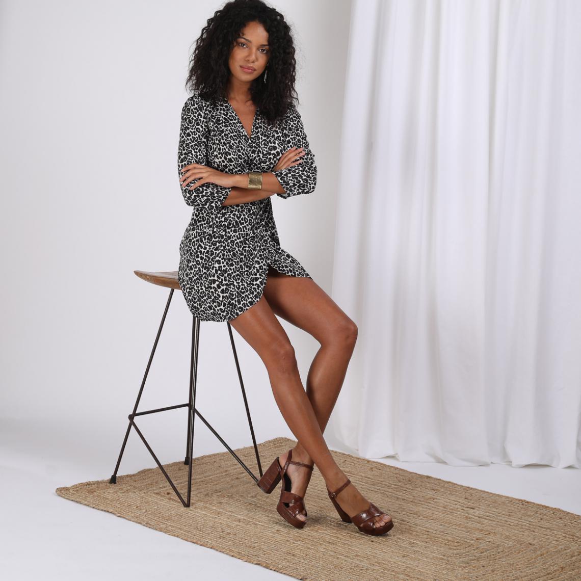 Robe Courte Portefeuille Imprimee Leopard Juliette 3 Suisses