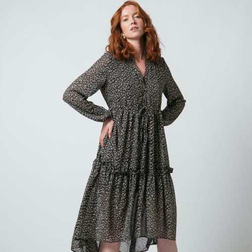 Robe longue boutonnée Jeanne