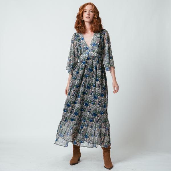 Robe Longue Imprime Jungle Agathe 3 Suisses