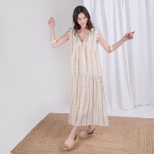 Robe longue rayée Alizée