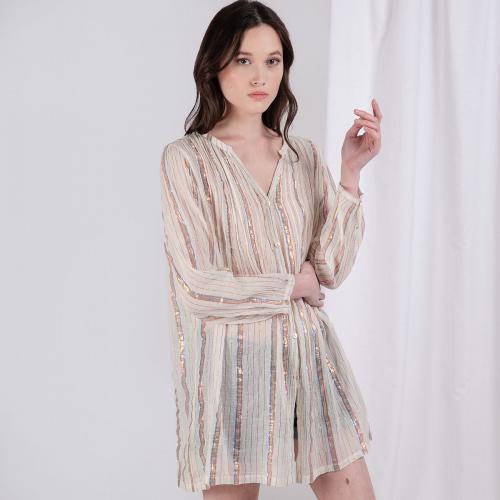 Robe tuniqué rayée Linda