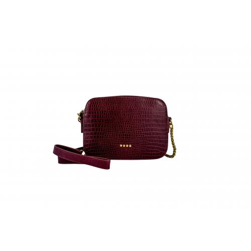 Sac cuir effet croco rectangulaire Andy