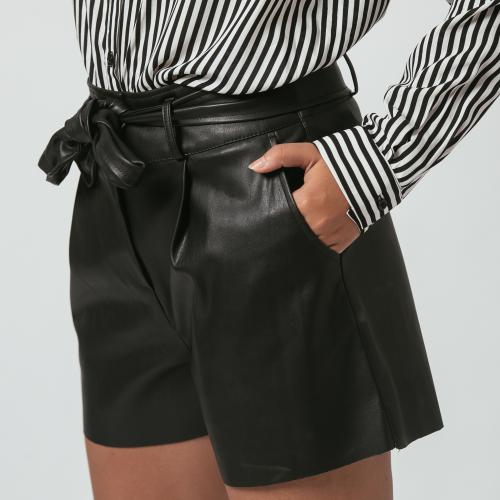 3S. x L'Edition - Short en simili cuir Jena - Mode made in france