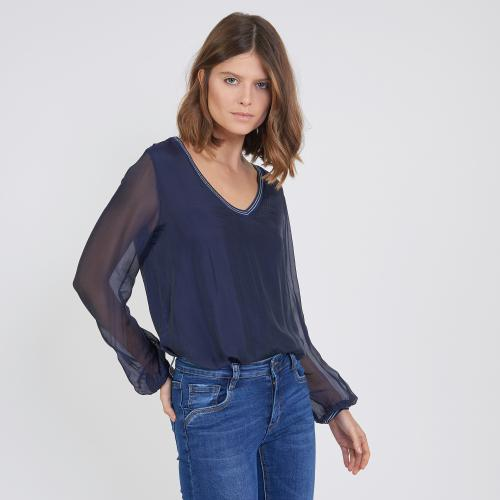 3S. x Stylist - Tee-shirt manches longues doublure soie - 3S. x Stylist