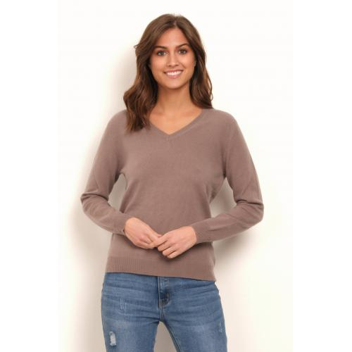 3S. x L'Edition - Pull col V en cachemire Camille - Promo Mode femme