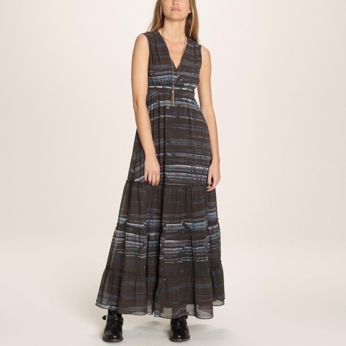 Promo : Robe longue femme 1060 - Multicolore
