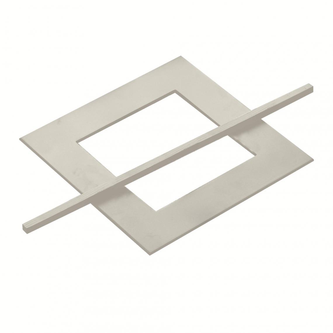 Embrasse à rideau carrée + pic bois laqué - Blanc 2 Avis