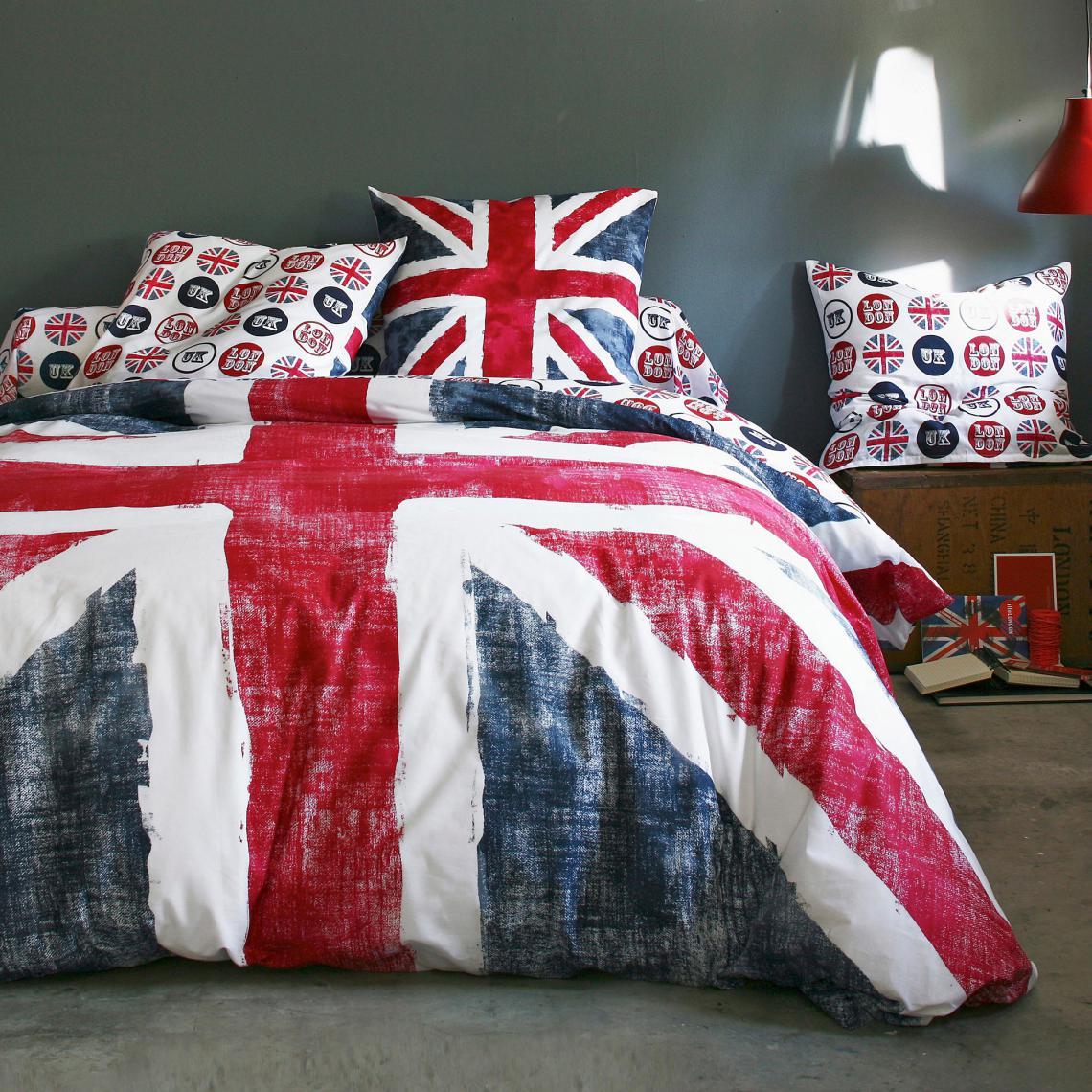 housse de couette de coton imprim e drapeau anglais old flag bleu 3 suisses