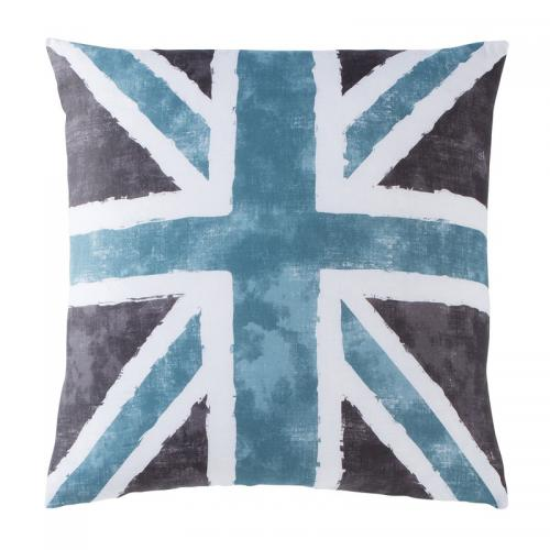 Taie d'oreiller ou de traversin drapeau anglais Coton Old FLag - Gris 3 Suisses Collection Linge de maison