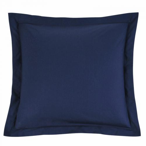 3 SUISSES Collection - Taie d'oreiller ou de traversin coton unie PERCALE - Bleu - Linge de maison