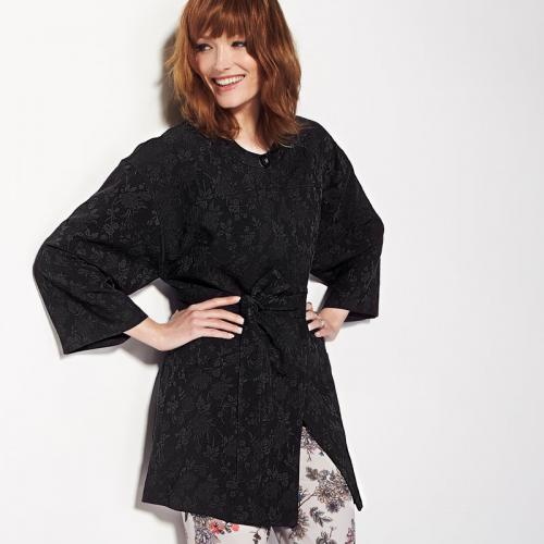 3S. x Collection - Manteau esprit kimono femme 3 SUISSES collection - Noir - Prix ronds 35 euros