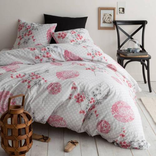 3S. x Collection - Parure de lit polycoton FLEUR DU JAPON - multicolore - Linge de lit