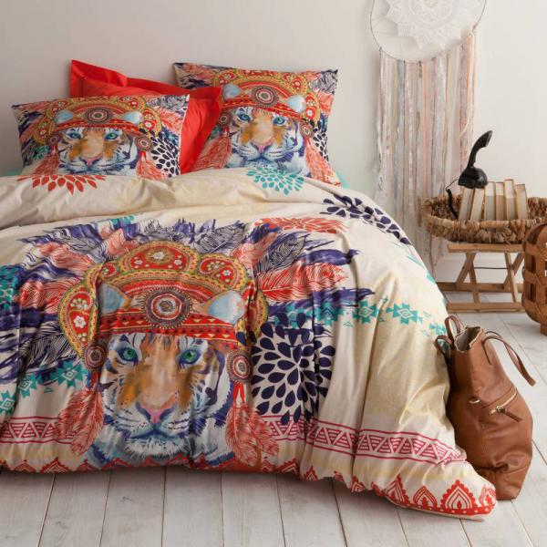 Housse de couette coton imprimé SHERKAN - Multicolore 3 SUISSES Collection Linge de maison
