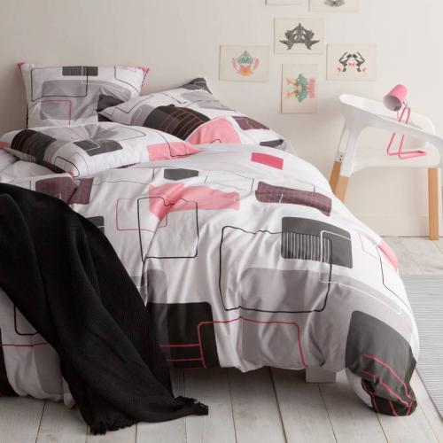 3 Suisses Collection - Parure housse de couette + 1 ou 2 taies polycoton MICROTONIC - Multicolore - Linge de maison