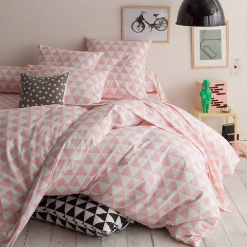 3S. x Collection - Housse de couette coton LORENZ - rose/blanc - Linge de maison