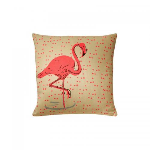 3 SUISSES Collection - Housse de coussin FLAMINGO - Multicolore - Linge de maison