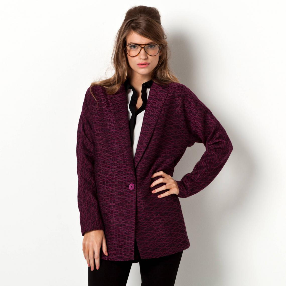 Veste longue jacquard COLLECTION - 3 SUISSES - Modalova