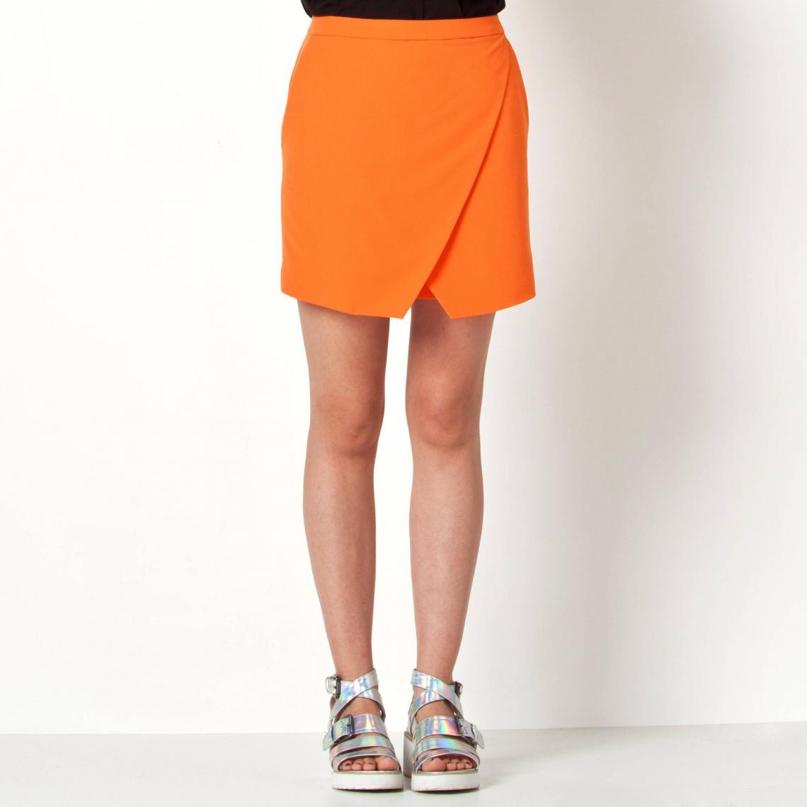 2cc47038c4a8a Jupe short courte 3 Suisses femme - Orange 3 SUISSES Collection Femme