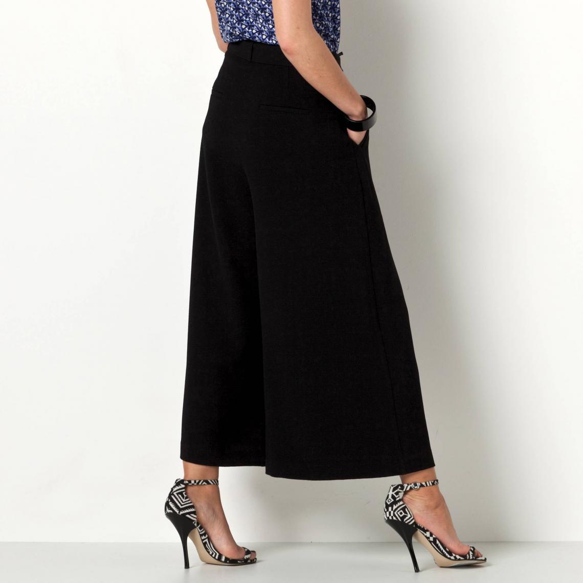 3 Pantalon Large Pinces À Avec Nouer Raccourci Liens Femme Extra USzVpqM