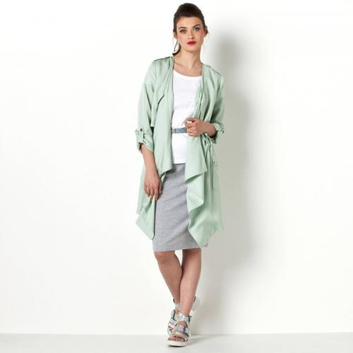 3S. x Collection - Parka unie sans col femme 3 SUISSES COLLECTION - Vert - Prix ronds 35 euros