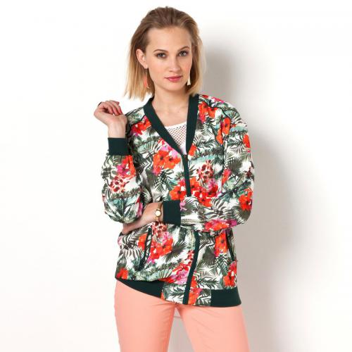 3 SUISSES Collection - Blouson fluide esprit teddy imprimé femme 3 SUISSES COLLECTION - Multicolore - Blouson