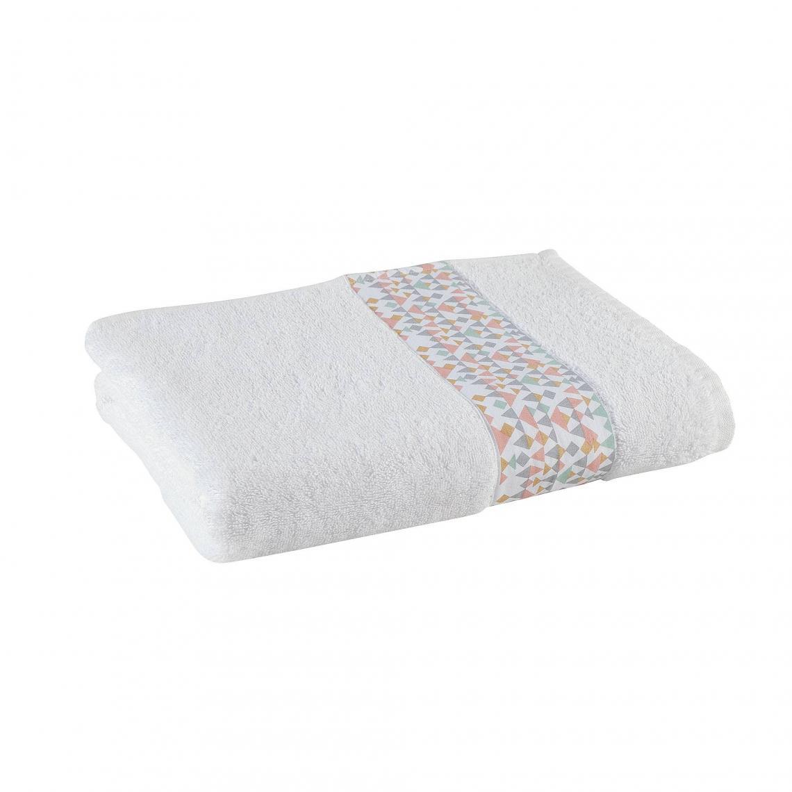 Serviette De Bain Eponge.Serviette De Bain Eponge Coton 400gm Triangle Blanc