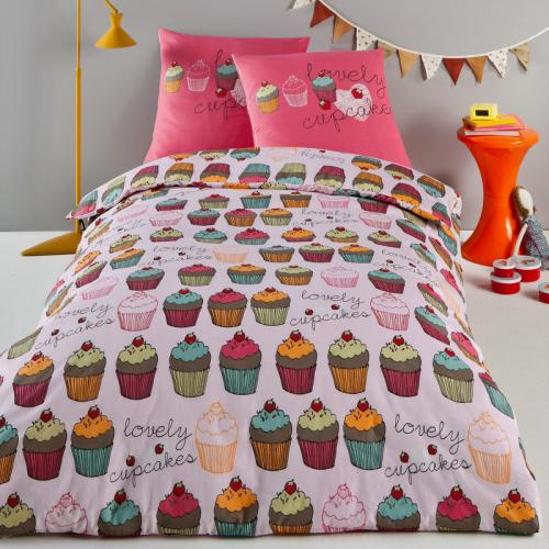 3 SUISSES Collection - Housse de couette pur coton Cup Cake - Linge de maison