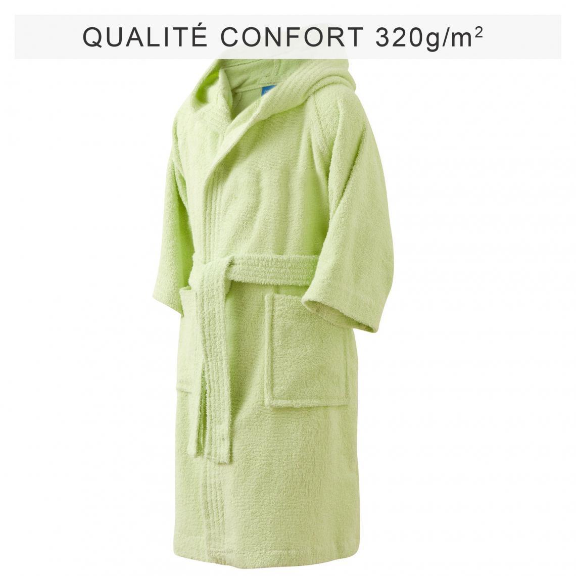 peignoir de bain enfant capuche vert 3 suisses. Black Bedroom Furniture Sets. Home Design Ideas