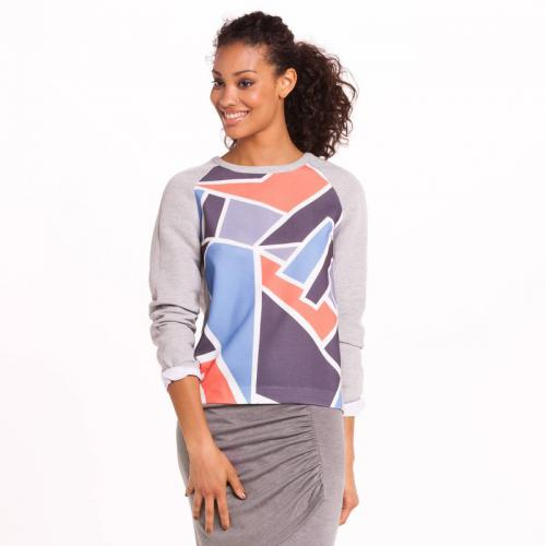 3 SUISSES Collection - Sweat imprimé manches longues femme 3 SUISSES Collection - Multicolore - Promotions