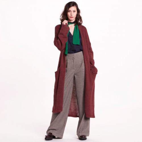 0edea29e7216 3 SUISSES Collection - Gilet long en grosse maille femme 3 SUISSES  Collection - Rouge -