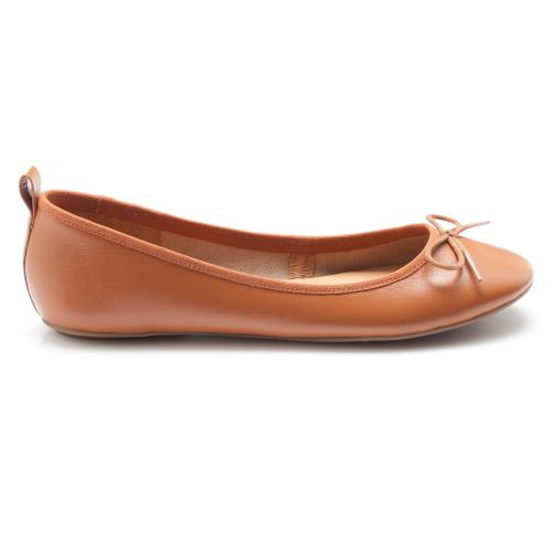 149320800131c 3 SUISSES Collection - Ballerines en cuir à nœud - Marron - Chaussures femme