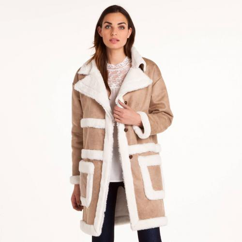 3 SUISSES - Manteau peau lainée femme 3 SUISSES Collection - Blanc - Manteau