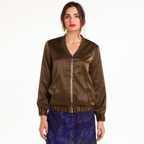 3 SUISSES Collection - Blouson style bombers en satin femme 3 SUISSES Collection - Vert - Blouson