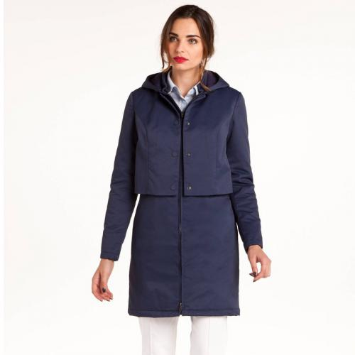 3 SUISSES Collection - Parka doublée à capuche amovible femme 3 SUISSES Collection - Bleu - Parka