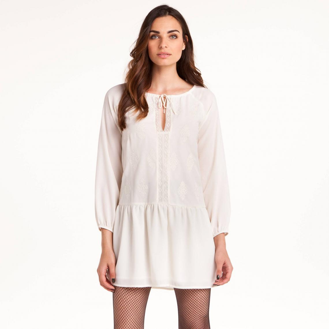 Robe Multicolore Femme Courte Brodée Collection 3 Suisses Folk srBQdothCx