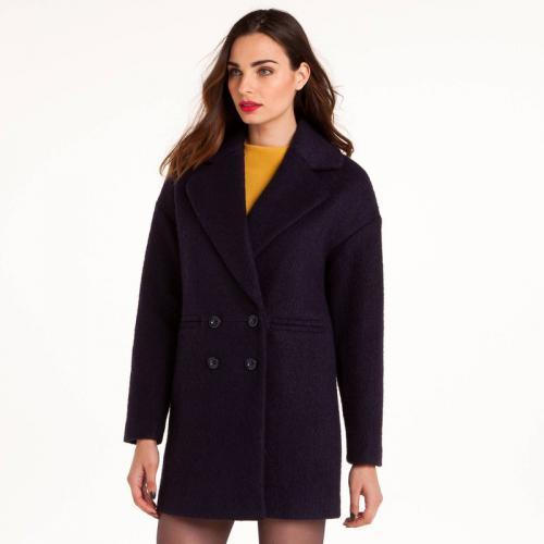 5e7472808006 3 SUISSES Collection - Manteau double boutonnage femme 3 SUISSES Collection  - Bleu - Manteaux laine