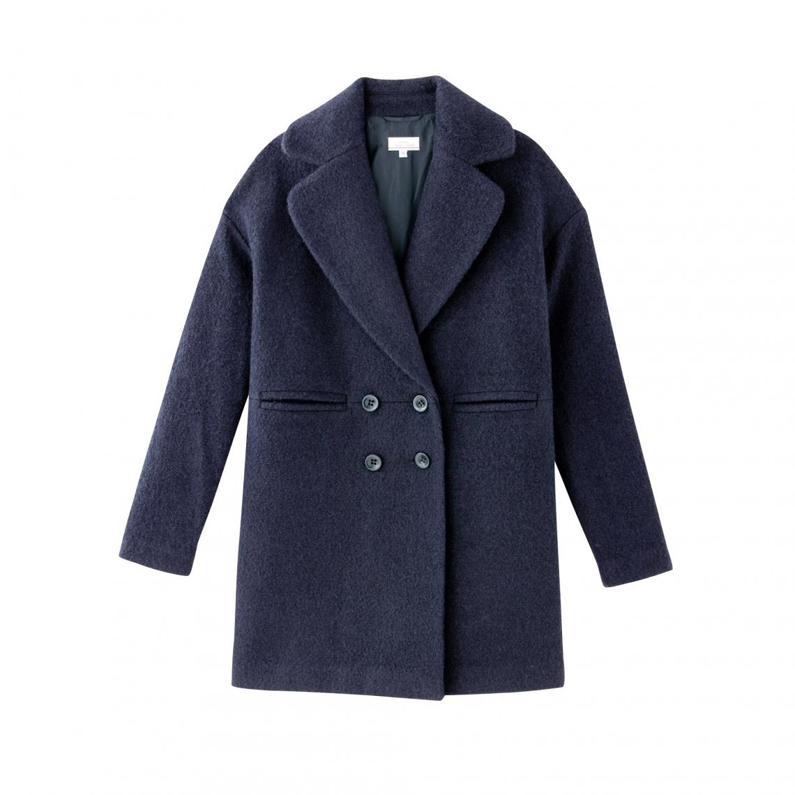 8b856eba311d6 Manteau double boutonnage femme 3 Suisses Collection - Bleu Marine 3  Suisses Collection