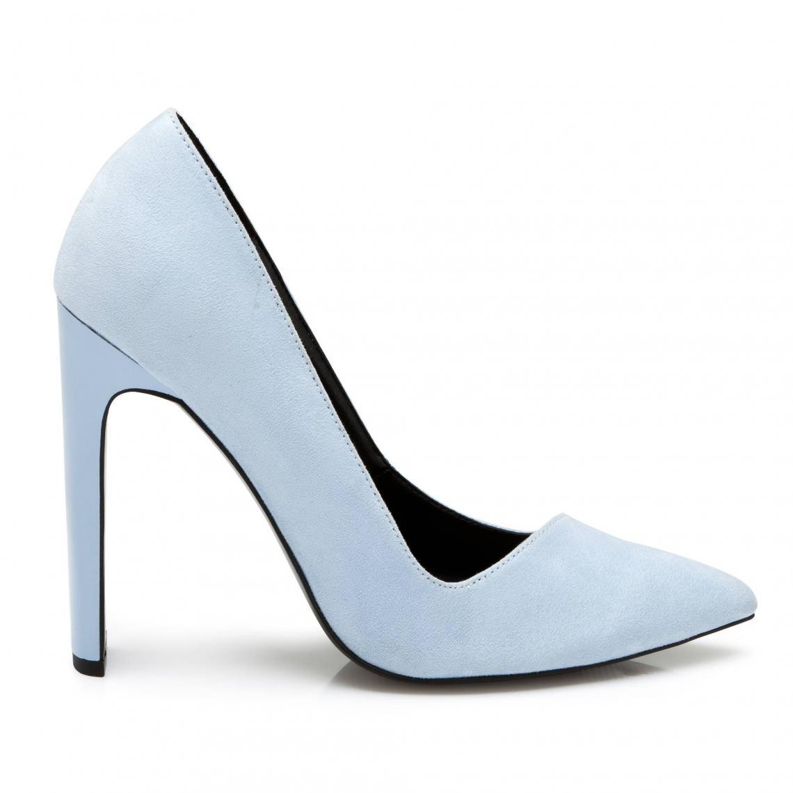 854b43932b9 Escarpins à talon droit asymétrique femme - Bleu 3 SUISSES Collection Femme
