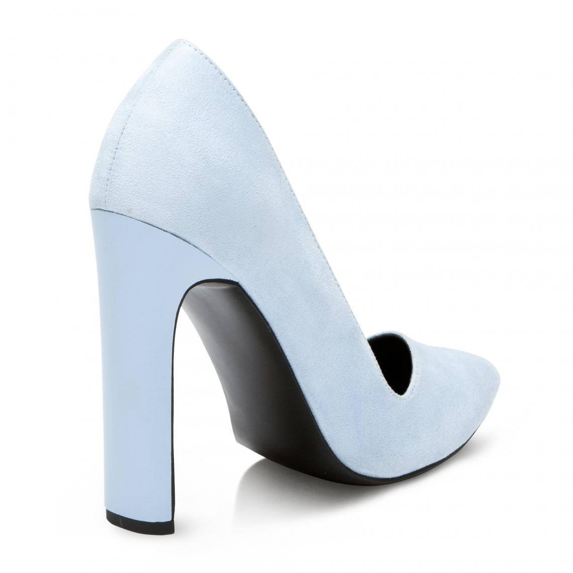 aa691b686cc Escarpins à talon droit asymétrique femme - Bleu 3 SUISSES Collection