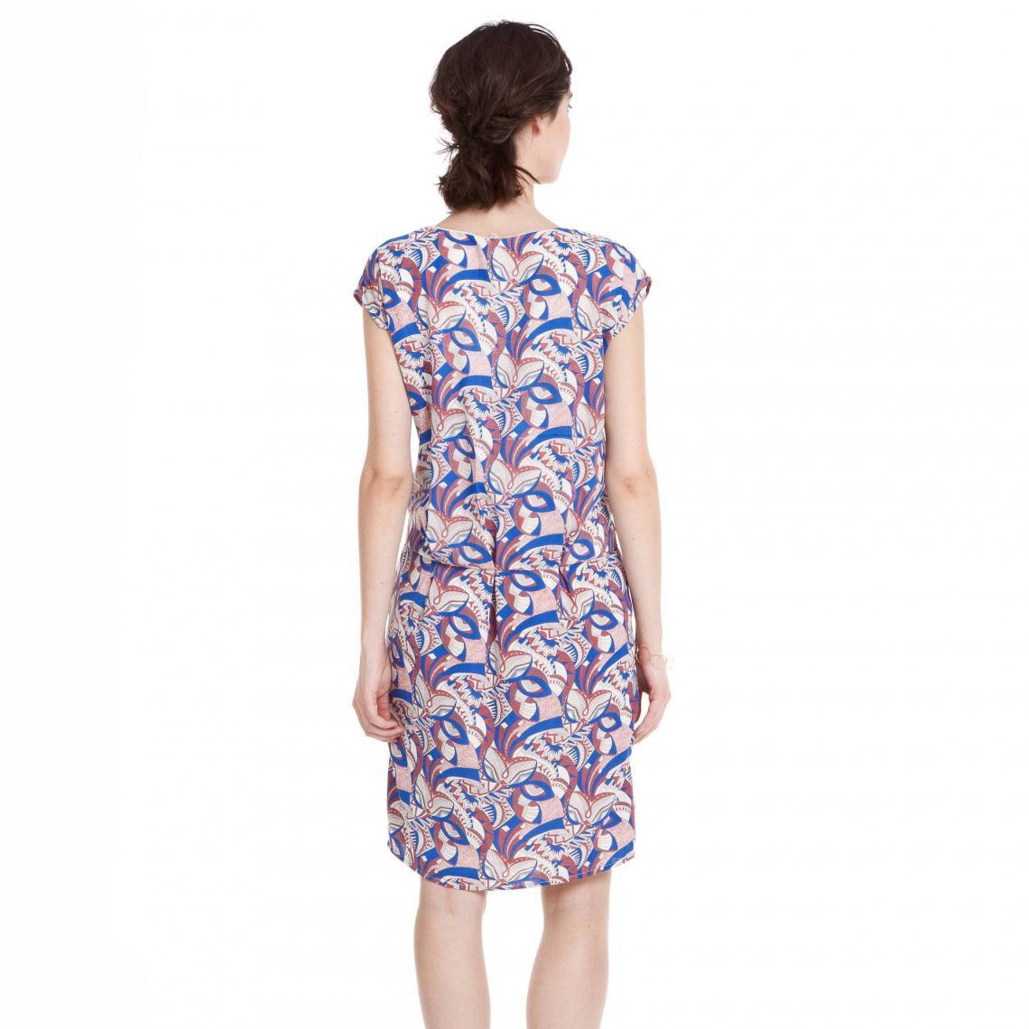 50e822eb3af Robe fluide mancherons imprimée femme - Multicolore